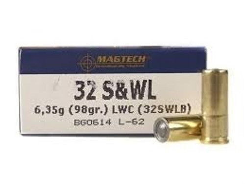 Magtech 32 Smith&Wesson Long Ammunition MT32SWLB 98 Grain Lead Wadcutter 50 rounds