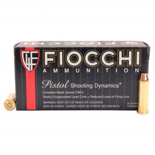 Fiocchi 38 Special Ammunition FI38CMJFP 125 Grain Truncated Cone Full Metal Jacket 50 rounds