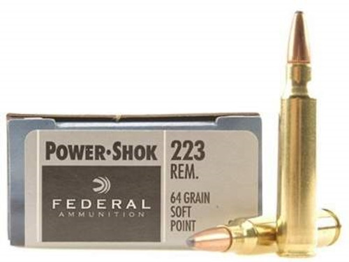 Federal 223 Rem Ammunition F223L Power-Shok 64 Grain Soft Point 20 rounds