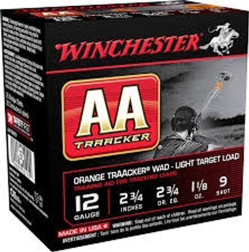 "Winchester 12 Gauge AA Ammunition Light TrAAcker Orange AA129TO 2-3/4"" 1-1/8oz #9 Shot 1145fps 250 rounds"