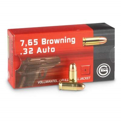 Geco 32 Auto Ammunition 73 Grain Full Metal Jacket 50 rounds