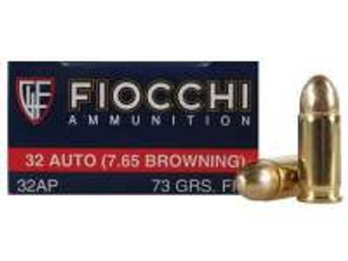 Fiocchi 32 Auto Ammunition FI32AP 73 Grain Full Metal Jacket 50 rounds