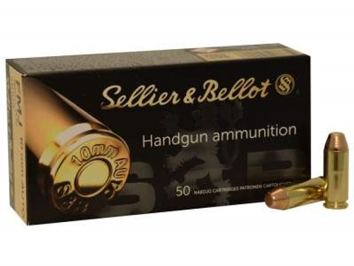 Sellier & Bellot 10mm Auto Ammunition SB10A 180 Grain Full Metal Jacket 50 Rounds