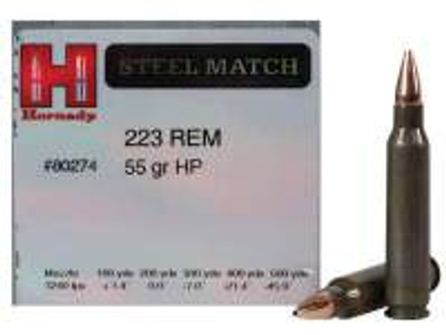 Hornady 223 Rem Steel Match H80274 55 gr HP 50 rounds