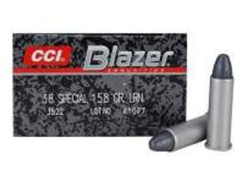 CCI 38 Special Case Blazer 3522 158 Grain Lead Round Nose 50 Rounds