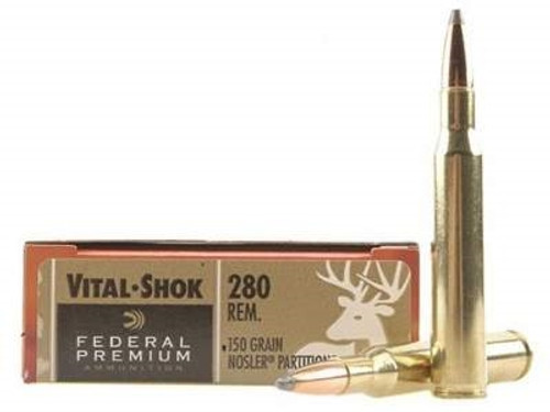 Federal 280 Rem Vital-Shok P280A 150 gr Nosler Partition 20 rounds