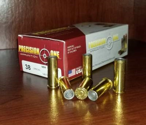 Precision One 38 Special Ammunition 148 Grain Wadcutter 50 rounds