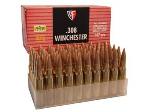 Fiocchi 308 Winchester Ammunition FI308AFM 147 Grain Full Metal Jacket 50 rounds