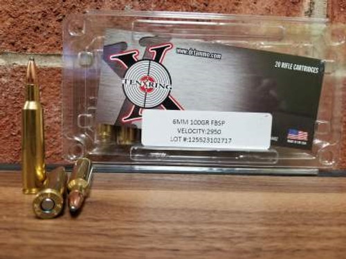Ten Ring 6mm Ammunition 100 Grain Flat Base Soft Point 2950fps 20 rounds