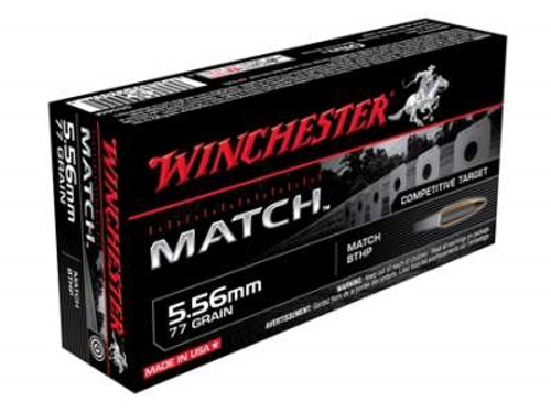 Winchester 5.56mm Supreme Match S556M 77 gr BTHP 20 rounds