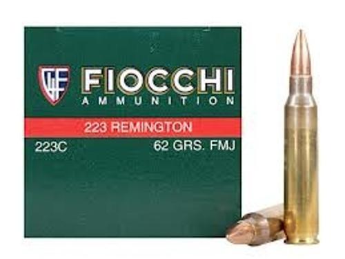 Fiocchi 223C 223 Remington Ammunition 62 Grain Full Metal Jacket 50 rounds