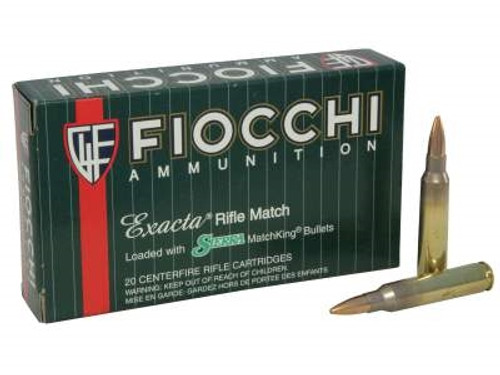 Fiocchi 223 Remington Exacta Ammunition FI223MKD 77 Grain MatchKing BTHP 20 rounds