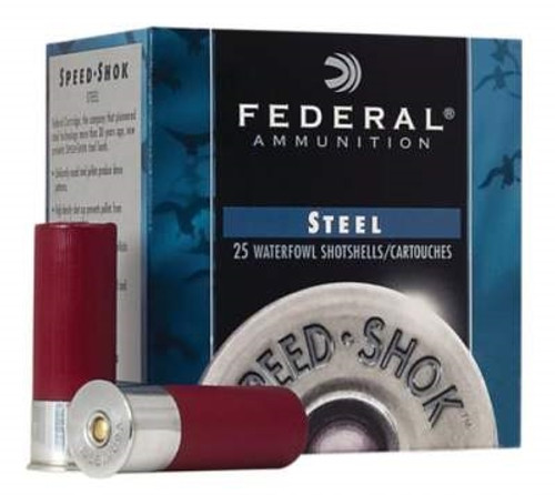 "Federal 12 Gauge WF1433CASE Speed-Shok Waterfowl Ammunition 3"" 1-1/8 oz #3 High Velocity Steel Shot 1550fps 250 rounds"