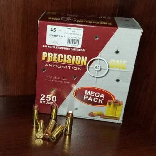 Precision One 45 Colt Ammunition 250 Grain Full Metal Jacket CB 250 rounds
