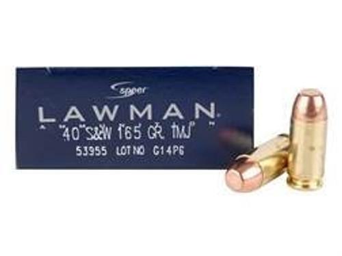 CCI 40 S&W Lawman CCI53955 165 gr TMJ 50 rounds
