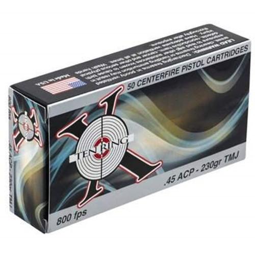 Ten Ring 45 Auto Ammunition 230 Grain Total Metal Jacket CASE 500 rounds