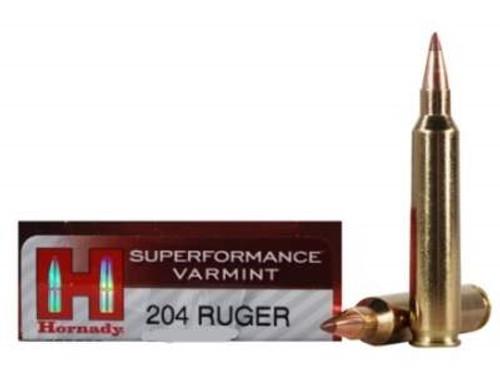 Hornady 204 Ruger Superformance Varmint H83206 CASE 40 gr V-MAX 200 rounds