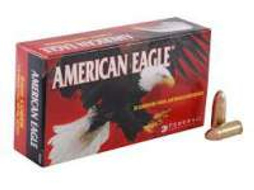 Federal 9mm Ammunition American Eagle AE9DP 115 Grain Full Metal Jacket 50 Rounds