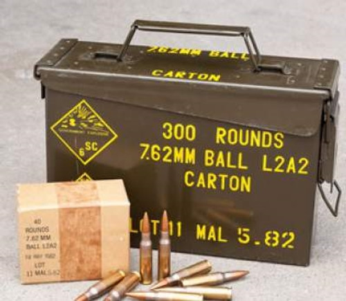 malaysian 7 62x51mm nato ammunition surplus 146 grain full metal