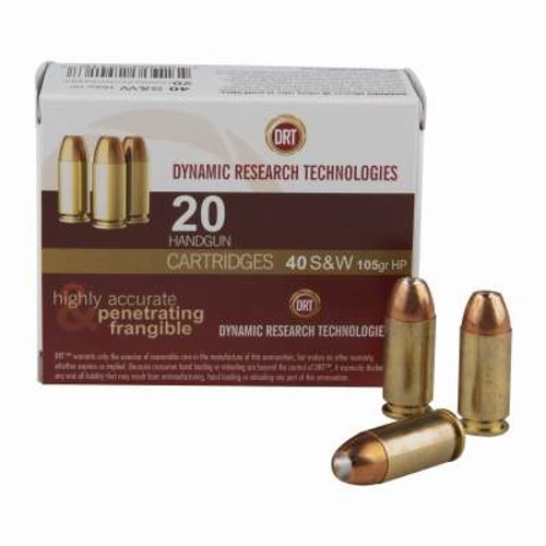 DRT 40 S&W Ammunition Terminal Shock 105 Grain Jacketed Hollow Point 20 rounds