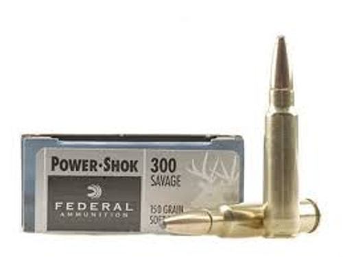 Federal 300 Savage Power-Shok 300A 150 Grain Soft Point 20 rounds