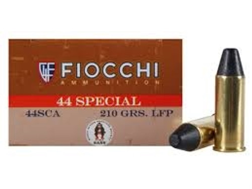 Fiocchi 44 Special Cowboy Action Ammunition FI44SCA 210 Grain Lead Round Nose Flat Point 50 rounds
