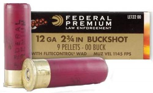 "Federal 12 Gauge Tactical LE13200 2-3/4"" Reduced Recoil 00 Buckshot 9 Pellets 50 rounds"
