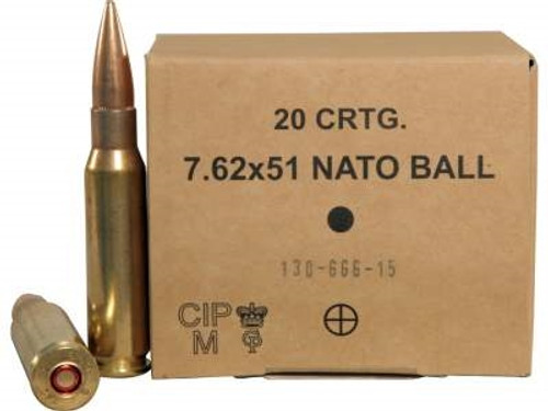 GGG 7.62x51mm NATO Ammunition M80 147 Grain FMJ  M2A1 CASE 500 rounds