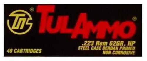Tula 223 Remington Ammunition 62 Grain Hollow Point 40 rounds