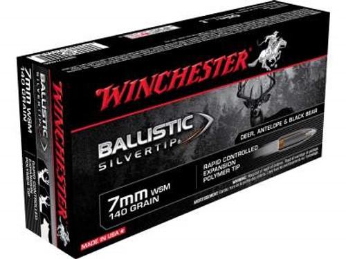Winchester 7mm WSM Ammunition Supreme SBST7MMS 140 Grain Ballistic Silvertip 20 rounds