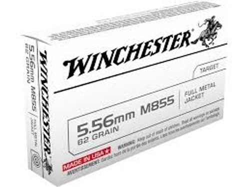 Winchester 5.56mm M855 Penetrator Q3269 62gr Steel Core FMJ 20 rounds