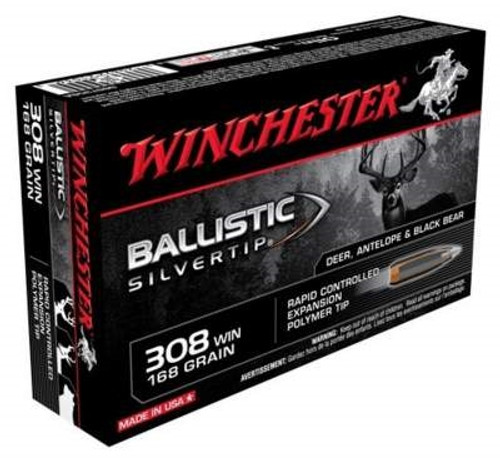 Winchester 308 Supreme SBST308A 168 gr Ballistic Silvertip 20 rounds