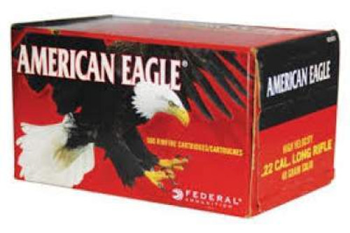 Federal 22LR Ammunition American Eagle AE5022 40 Grain Lead Round Nose High Velocity Brick of 500 Rounds