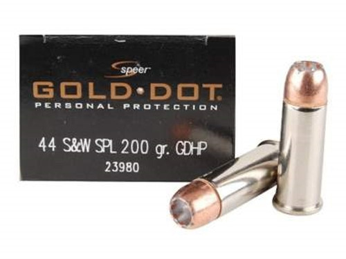 CCI Speer 44 Special Ammunition CCI23980 Gold Dot 200 Grain Jacketed Hollow Point 20 rounds