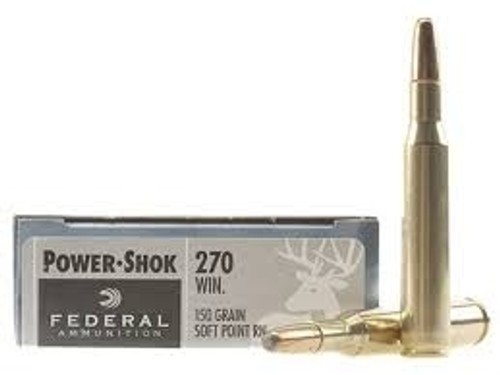 Federal 270 Win Power-Shok F270B 150 gr SP RN 20 rounds