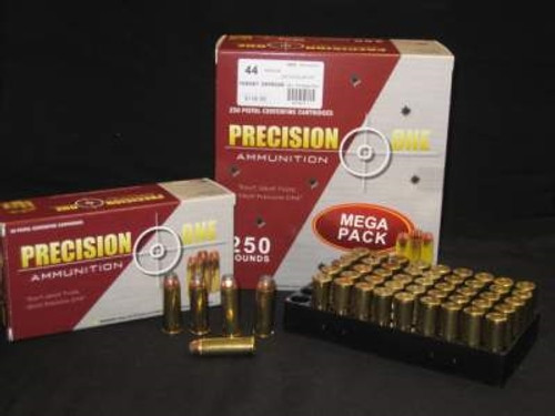 Precision One 44 Magnum Ammunition 240 Grain Nosler Jacketed Hollow Point 50 rounds