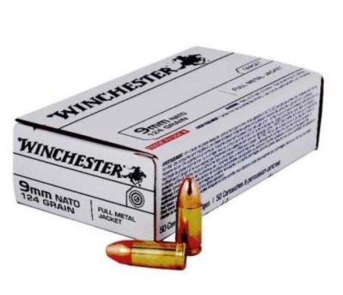 Winchester 9mm Nato Q4318 124 gr FMJ CASE 500 rounds