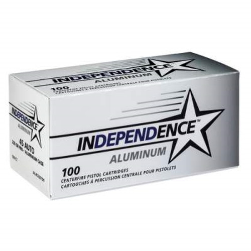 Independence 45 Auto Aluminum IAL45230100 230 gr FMJ 100 rounds