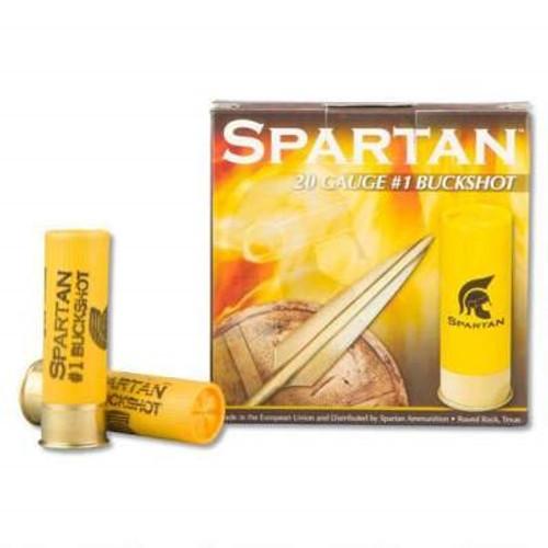 "Spartan 20 Gauge Ammunition SA2000 2-3/4"" #1 Buckshot 9 Pellets CASE 250 rounds"