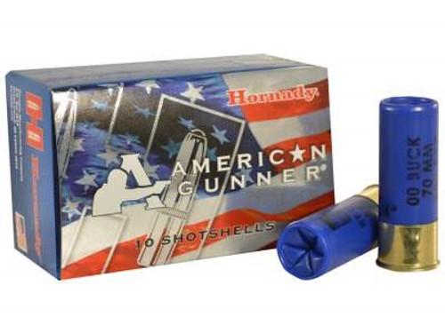 """Hornady 12 Gauge Ammunition American Gunner H86274 Low Recoil 2-3/4"""" 8 Pellet 00 Buckshot 1600fps 10 rounds"""