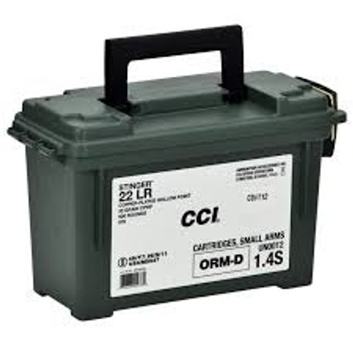 cci 22lr stinger hyper velocity cci0976 32gr cphp with ammo can 900