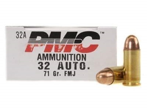 PMC 32 Auto Ammunition PMC32A 71 Grain Full Metal Jacket 50 rounds
