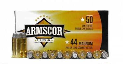 Armscor 44 Magnum Ammunition 240 Grain Semi-Wad Cutter 50 rounds