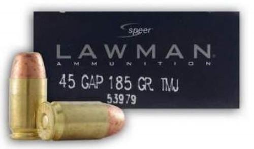 Speer 45 GAP Lawman CCI53979 185 gr TMJ 50 rounds