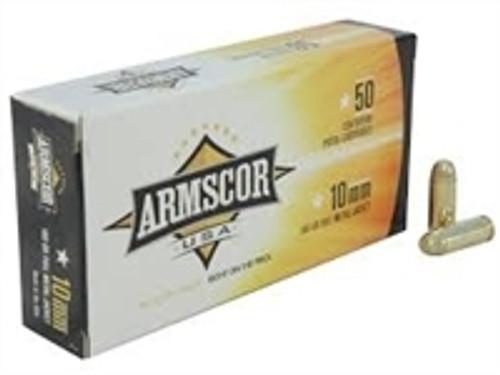 Armscor 10mm Ammunition 180 Grain Full Metal Jacket CASE 1000 rounds