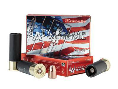 "Hornady 12 ga American Whitetail H86271 2-3/4"" 325 gr Interlock Hollow Point Sabot Slug 1825fps 5 rounds"