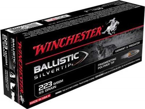 Winchester 223 WSSM Ammunition Supreme SBST223SS 55 Grain Ballistic Silvertip 20 rounds