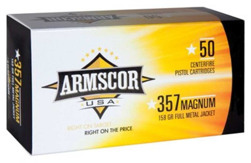 Armscor 357 Magnum Ammunition 158 Grain Full Metal Jacket CASE 1000 rounds