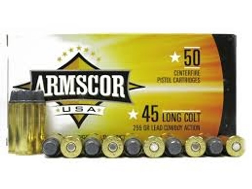 Armscor 45 Long Colt Cowboy Action Ammunition 255 Grain Lead Semi-Wadcutter 400 rounds
