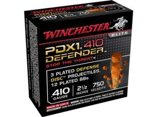 "Winchester 410 Bore PDX1 Defender S410PDX1 2-1/2"" 3 Disks over 1/4 oz BB Shot 750fps 10 rounds"